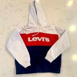 LEVIS colour block hoodie size S
